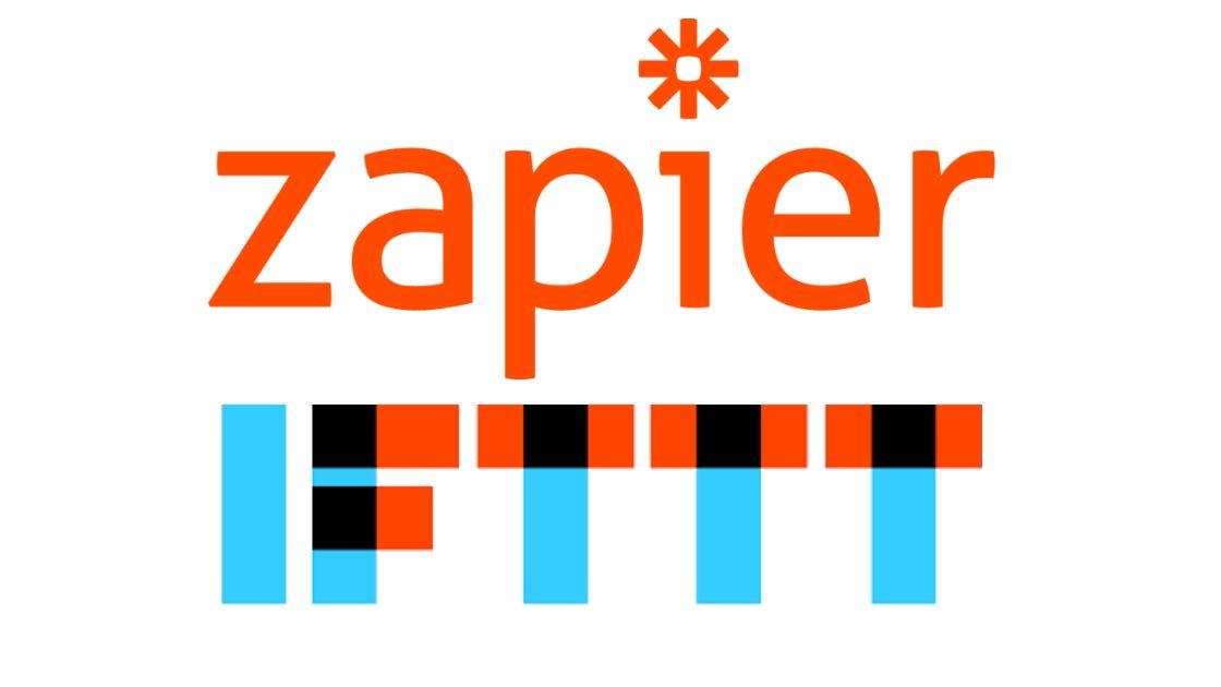 Zapier and IFTTT logos graphic