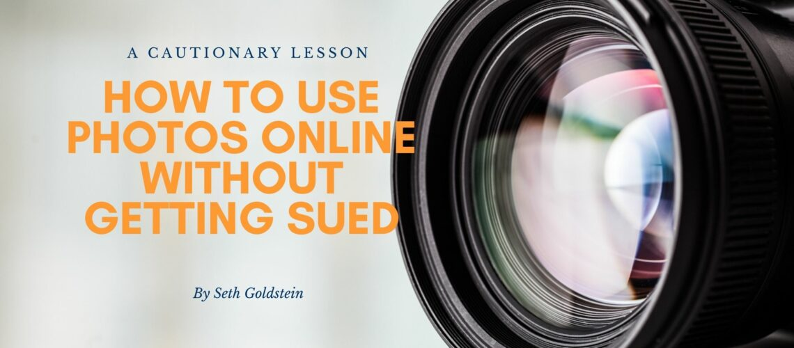 How to use photos online without getting sued